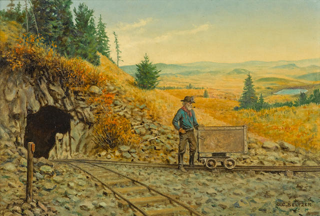 Olaf Carl Seltzer (1877-1957) Hardrock Mine 11 x 16in overall: 18 x 23in