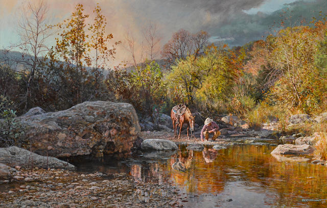Bob Wygant (born 1927) Place of Solitude 16 x 25in overall: 22 1/4 x 31 1/4in