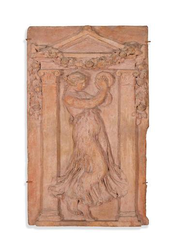 PIERRE-AUGUSTE RENOIR (1841-1919) AND LOUIS MOREL (1887-1975) La danseuse au tambourin 29 7/8 x 18 in (75.7 x 45.7 cm)