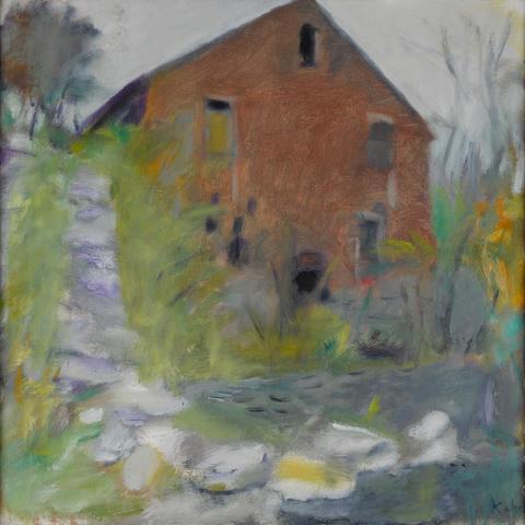 Wolf Kahn (born 1927) Old Mill 24 x 24in