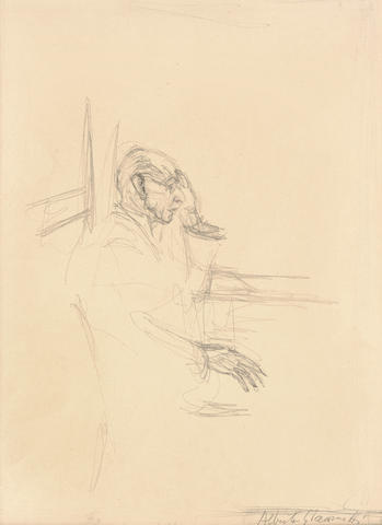 Alberto Giacometti (1901-1966) Portrait of Igor Stravinsky 16 7/8 x 12 3/4 in (43 x 32.5 cm) (Drawn in 1957)