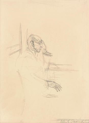 Alberto Giacometti (1901-1966) Portrait of Igor Stravinsky 16 7/8 x 12 3/4 in (43 x 32.5 cm) (Drawn in 1957)