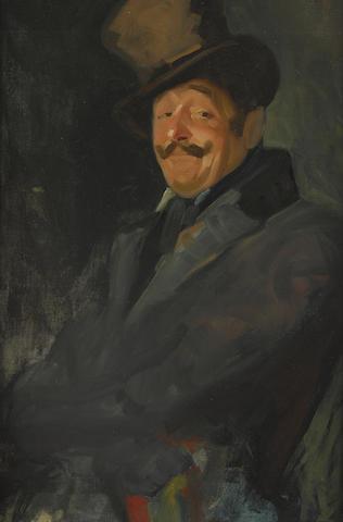 George Benjamin Luks (1867-1933) Study for Otis Skinner as Colonel Philippe Bridau 36 x 23in (Painted circa 1919.)