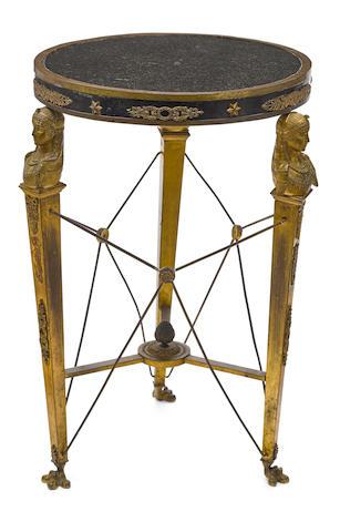 An Empire style gilt bronze guéridon late 19th century