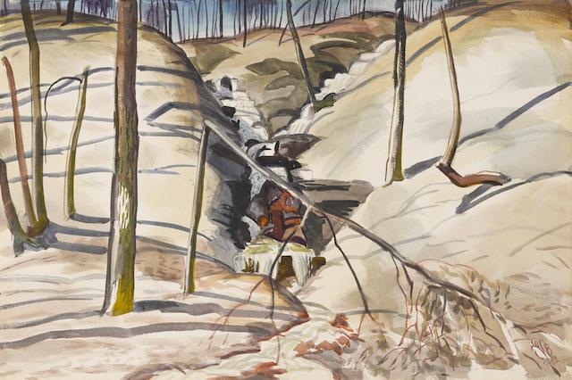 Charles Burchfield (1893-1967) March Sunlight 18 x 27in
