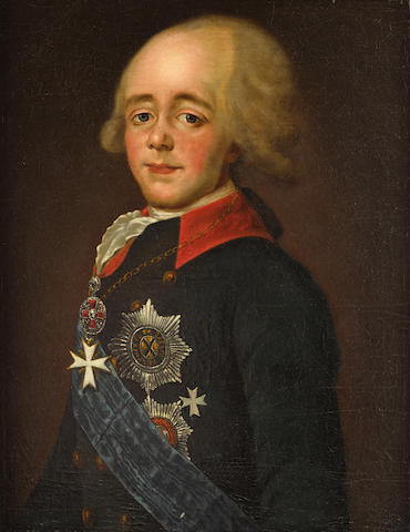 Portrait of Emperor Paul I 68.5 x 53.3cm (27 1/2 x 22 1/4in).
