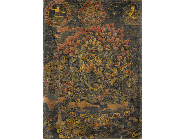 A Thangka of Maning Mahakala Tibet, circa 18th century