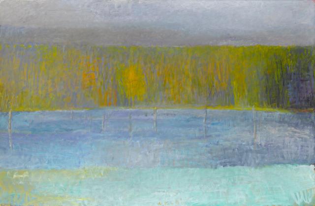 Wolf Kahn (born 1927) Imaginary Beaver Pond 53 3/8 x 80 1/2in
