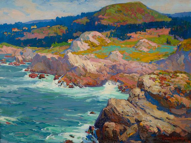 Franz Arthur Bischoff (1864-1929) Highland Drive, Monterey Coast 30 x 40 1/4in overall: 34 x 44in