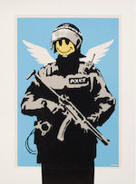 Banksy (born 1975); Flying Copper;