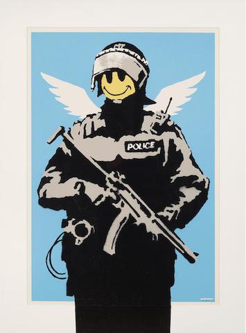 Banksy (born 1975); Flying Copper;
