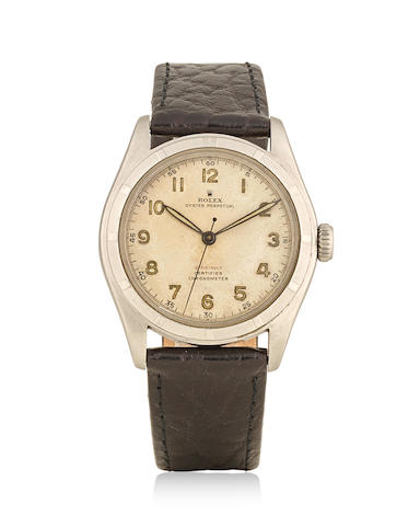 Rolex. A stainless steel automatic wristwatch Oyster Perpetual 'Bubbleback', Ref: 6107, circa 1952