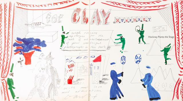 HOCKNEY, DAVID. b.1937 Hockney Paints the Stage. New York: Abbeville Press, (1983).