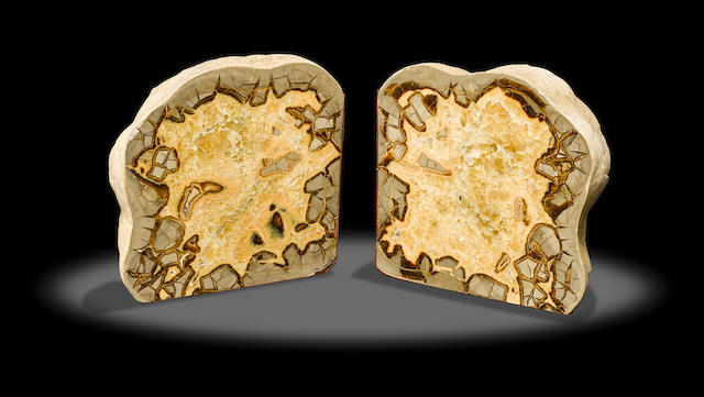 Pair of Septarian Bookends