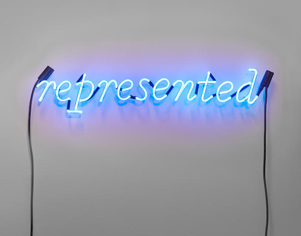JOSEPH KOSUTH (B. 1945) No Number #001 (Cobalt Blue), 1989 (This work is unique.)