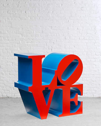 ROBERT INDIANA (b. 1928) LOVE (Red Faces Blue Sides), 1966-2000 (Conceived in 1966 and executed in 2000, this work is artist's proof number two from an edition of six, plus four artist's proofs.)