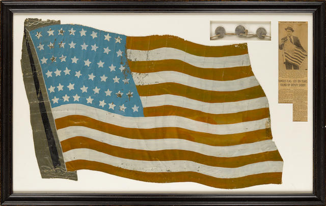 "World War I: US 36th Aero squadron, a Painted ""Stars and Stripes"" Insignia. American, c.1918."