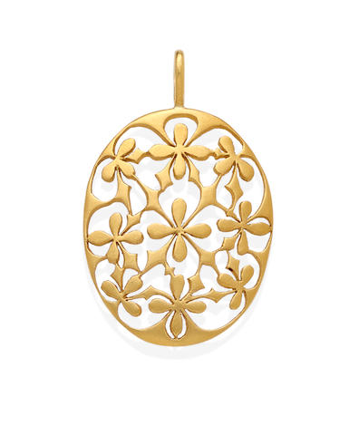 A 22k gold pendant, Cathy Waterman