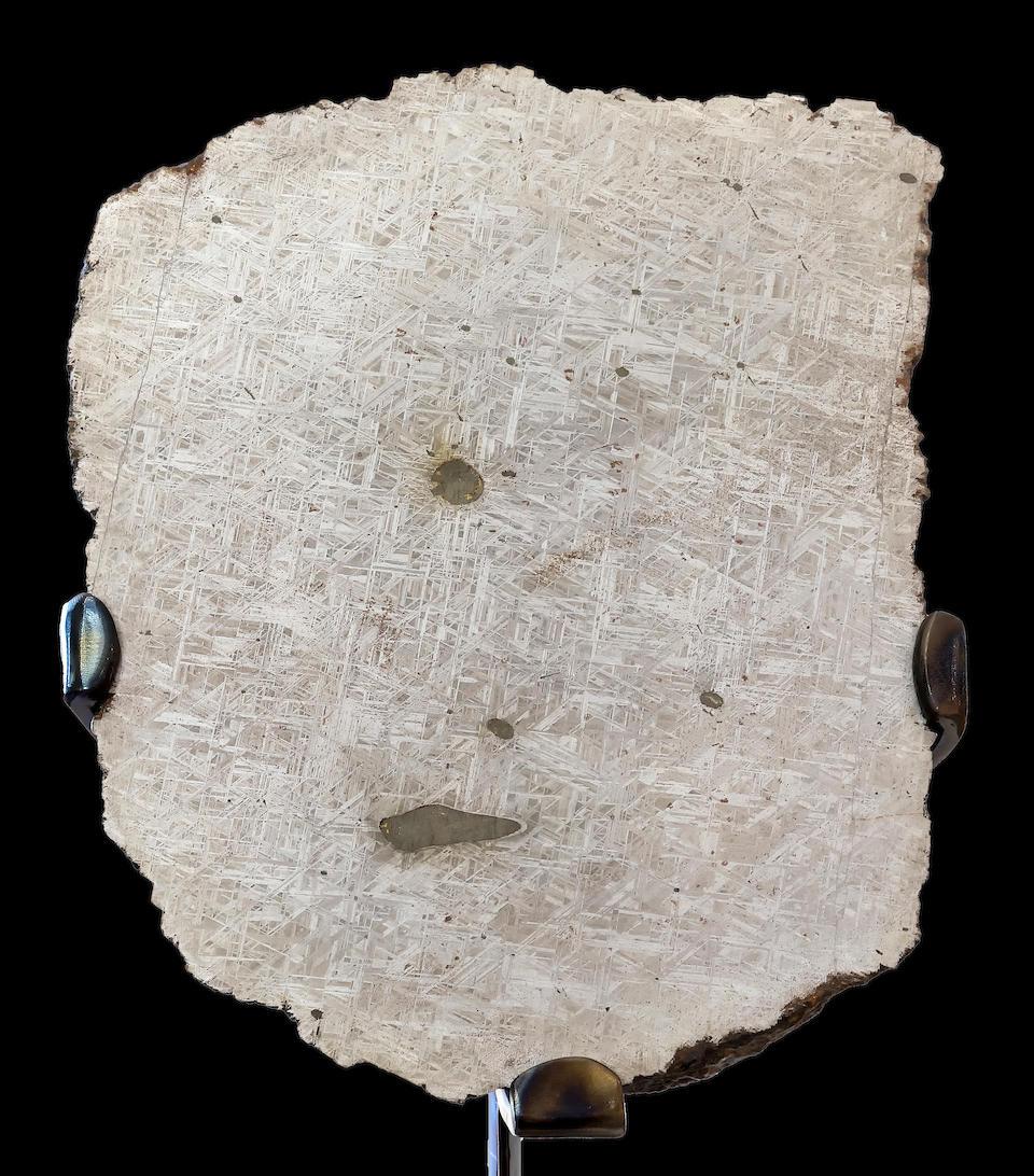 Large and Impressive Muoninalusta Meteorite End Piece on Custom Base