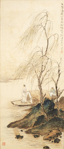 Fang Rending (1901-1975) Scholar in Moonlight, 1963