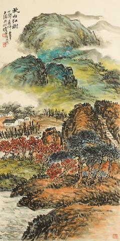 Zhu Qizhan (1892-1996) Autumn Landscape, 1987