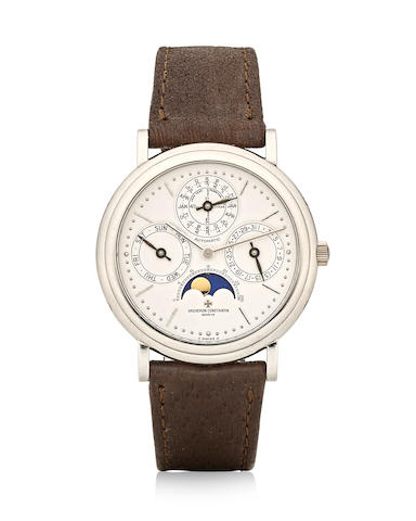 Vacheron Constantin. A platinum automatic wristwatch with perpetual calendar and moonphase Patrimony Perpetual Calendar, Ref: 43031/3, 1990's