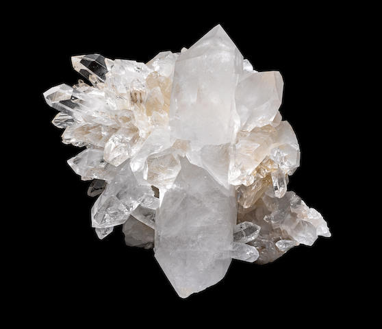 Quartz Crystal Cluster with Double-Terminated Crystal