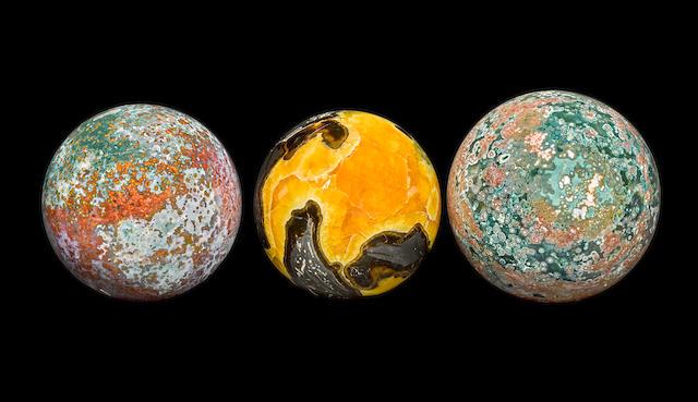 Group of Three Large Spheres