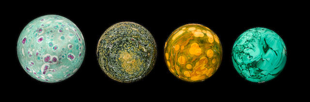 Collection of Four Mineral Spheres