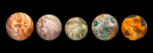 Collection of Five Small Spheres