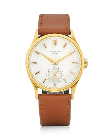 Patek Philippe. A fine and rare oversized 18k gold manual wind wristwatch Calatrava, Ref: 570, circa 1948