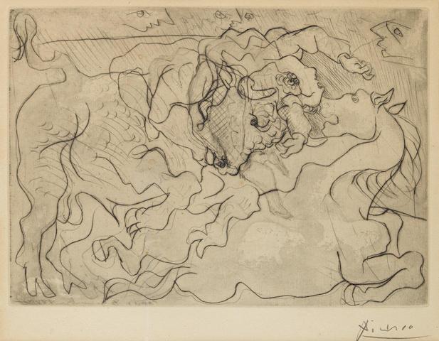 Pablo Picasso (1881-1973); Morte au Soleil IV, pl.13, from La Suite Vollard;