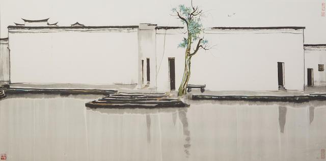 Wu Guanzhong (1919-2010)  Two Swallows