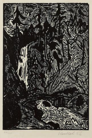 Erich Heckel (1883-1970); Wasserfall ;