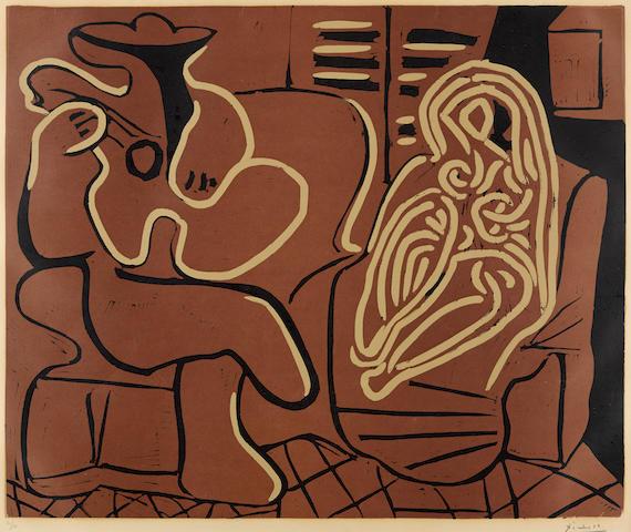 Pablo Picasso (1881-1973); Femme dans un Fauteuil et Guitariste;