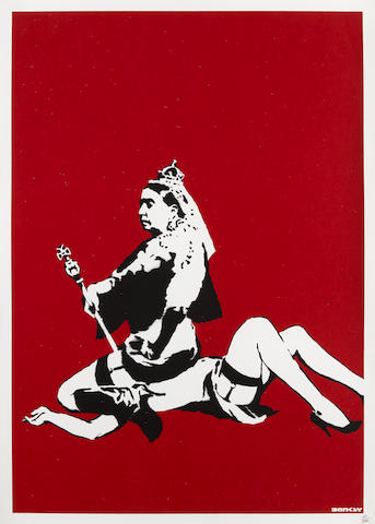 Banksy (born 1975); Queen Victoria;