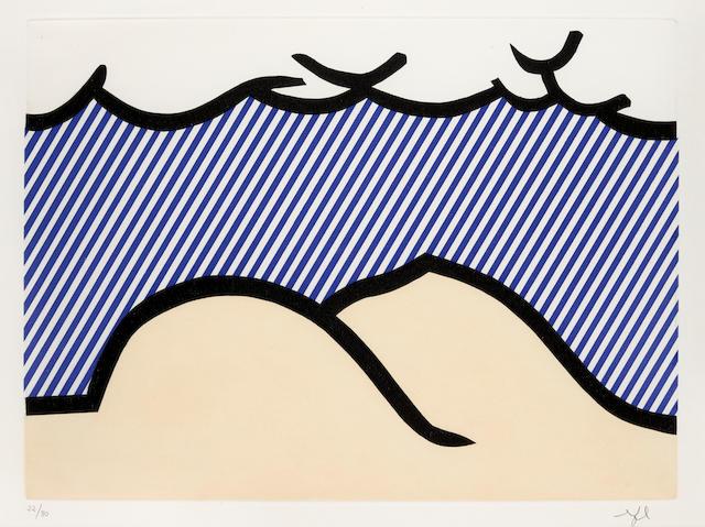Roy Lichtenstein (1923-1997); Illustration for 'De Denver au Montana, Départ 27 Mai 1972' (I), pl. 9, from La Nouvelle Chute de l'Amérique (The New Fall of America);
