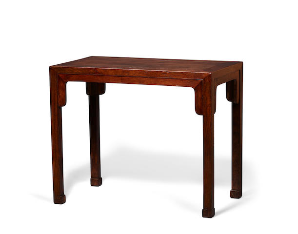 A huanghual corner-leg table, tiaozhuo 18th century