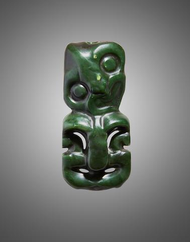 Large Maori Anthropomorphic Pendant, New Zealand, 1600-1850