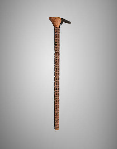 Fine Ceremonial Hafted Adze, Mangaia, Cook Islands