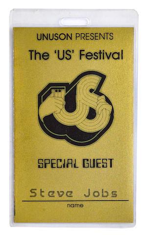 [JOBS, STEVE. 1955-2011.] Printed pass, 2 1/4 x 3 3/4 inches, Glen Helen, CA, September 3-5, 1982,