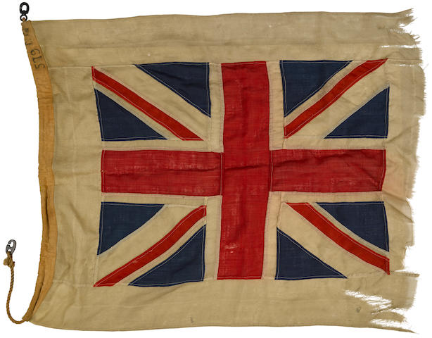 H.M.S. ML 579, torpedo boat flag.  British, c.1943.
