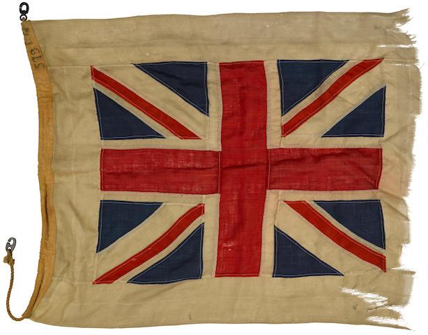 H.M.S. ML 579, torpedo boat flag.  British, c.1943.