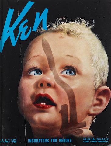 HEMINGWAY, ERNEST, CONTRIBUTOR. Ken Magazine. Chicago: Ken, Inc., April-Dec 1938.