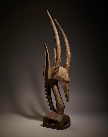 Bamana Male Antelope Headdress, Mali