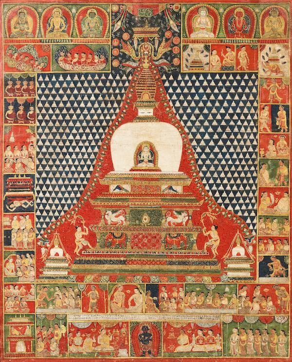 A PAUBHA OF THE LAKSHACHAITYA WITH VAIROCANA BUDDHA