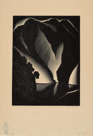 Paul Landacre (1893-1963); Tuonela;