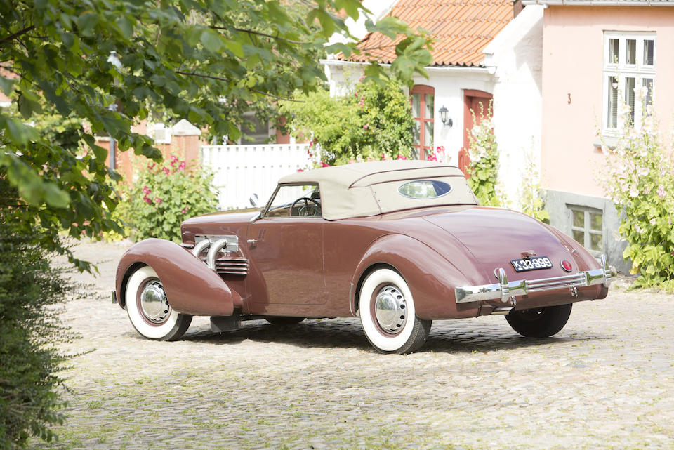 """<b>1937 Cord 812 Supercharged """"Sportsman""""</b><br />Chassis no. 31631F<br />Engine no. FC2136"""