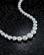 A magnificent diamond rivière necklace, Harry Winston,