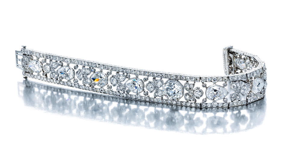 An Exquisite Edwardian diamond bracelet,